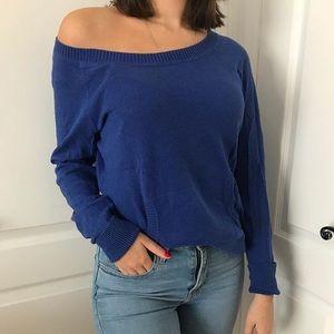 Tops - Blue knit long sleeve